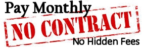 no contract & no hidden fees